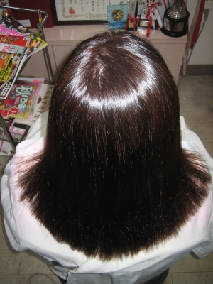 ストレートパーマ 50代 白髪染め