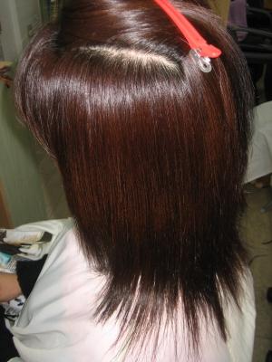 髪の量を減らすだけ 奈良 美容卒