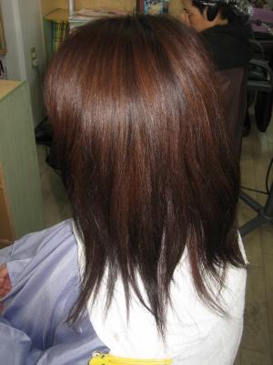 大和郡山市 美容室 縮毛矯正 髪を減らす