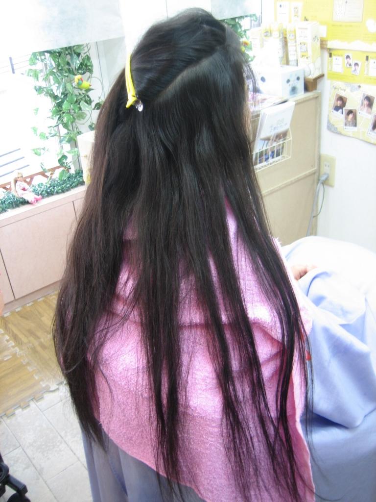 スーパーロングヘア ストレート 縮毛矯正