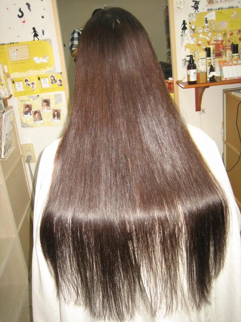 超ロングヘアの縮毛矯正 美容室 奈良市