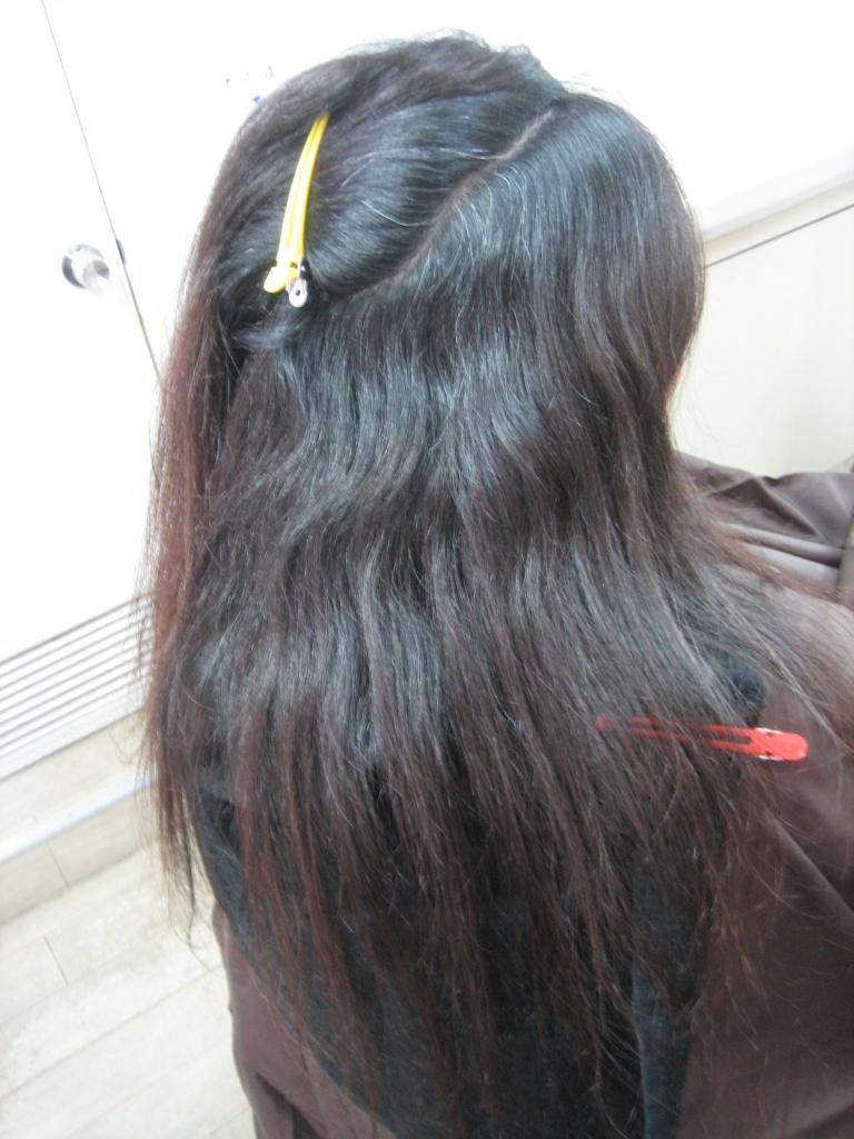 美容室の失敗に気がつかない髪