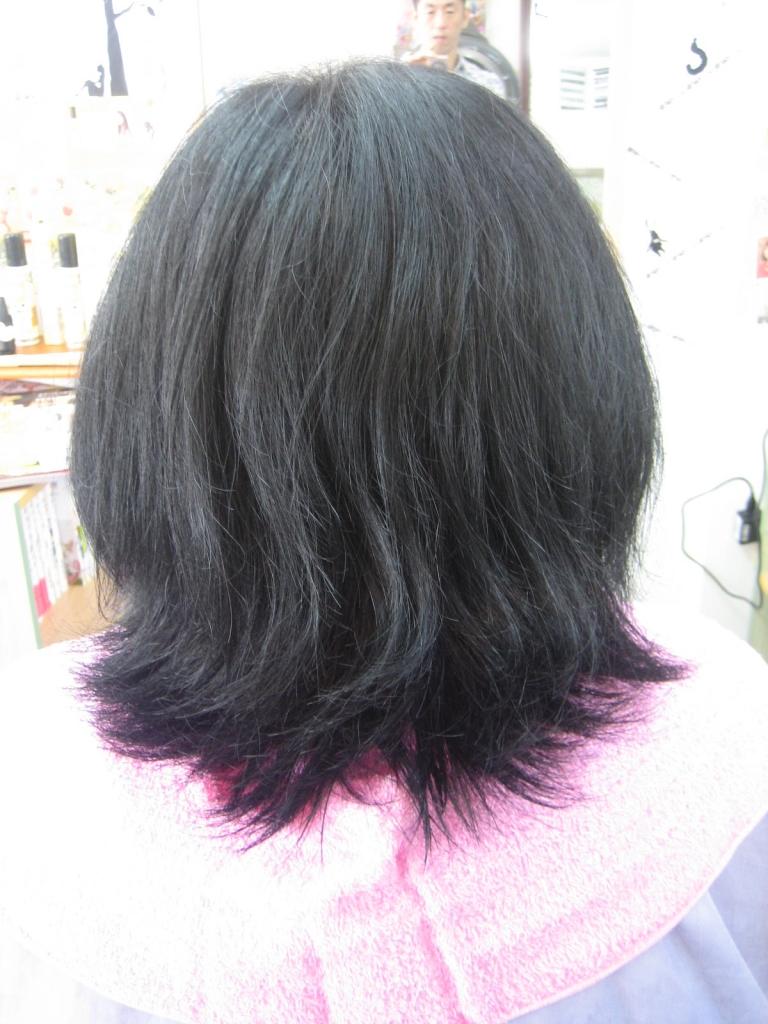 ヘアスタイルのビフォーアフター 40代 お母さんヘア