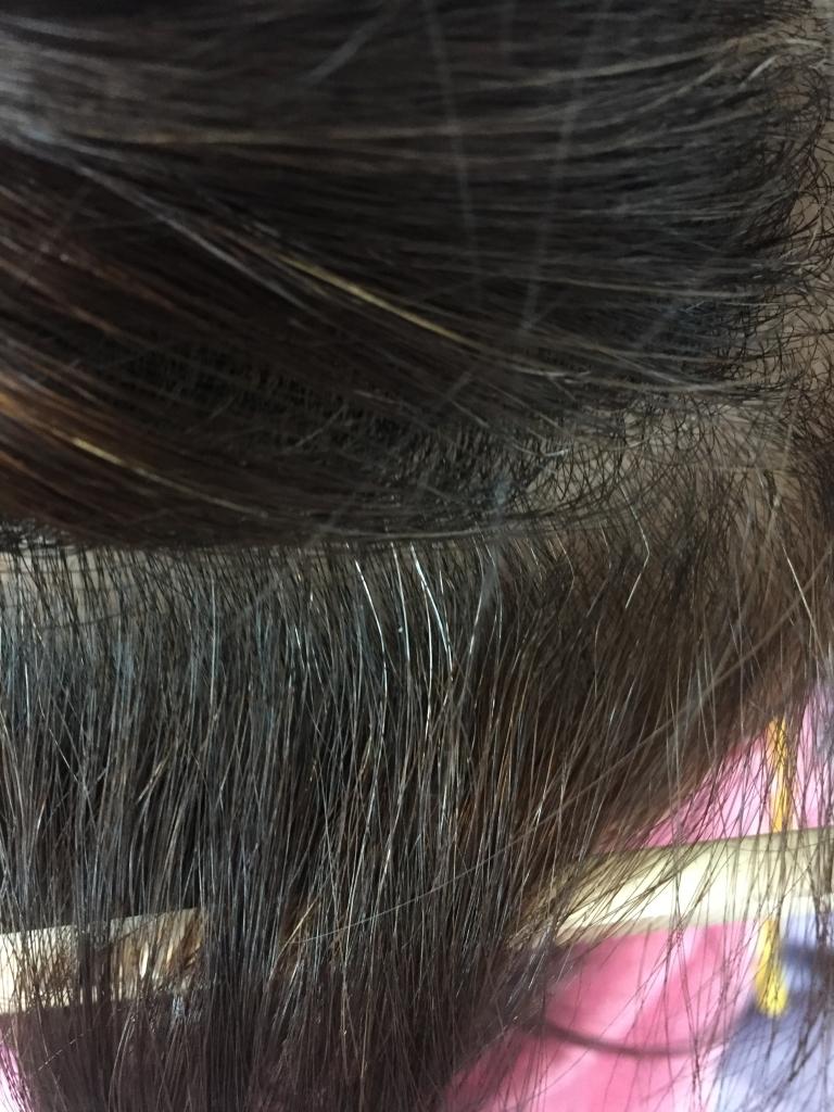 髪の根元が折れる 折れた 痛んだ