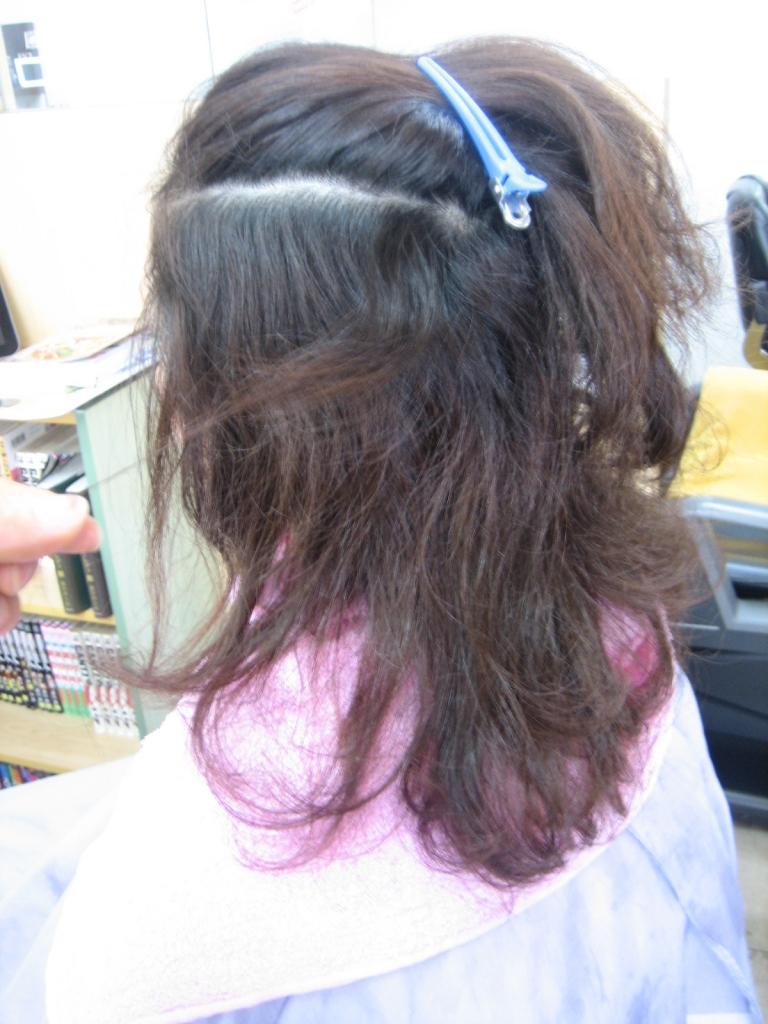 ヘアリセッター 奈良 髪の量を減らす