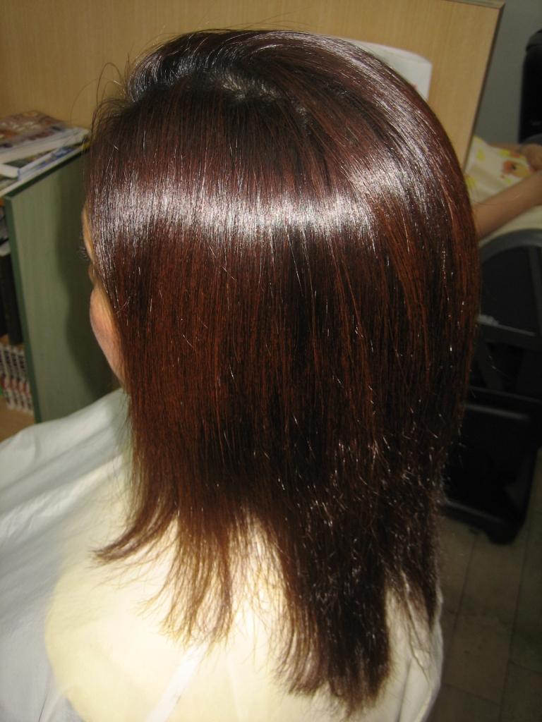 ヘアスタイル ビフォーアフター 美容室 髪の量を減らす