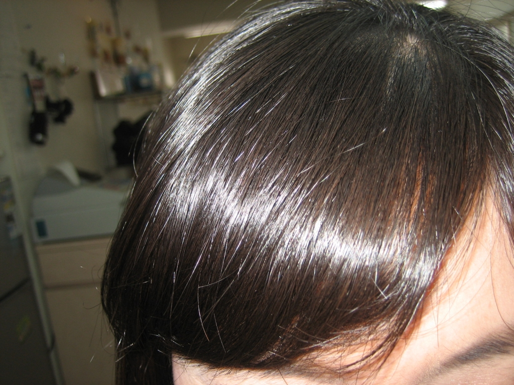 前髪の縮毛矯正