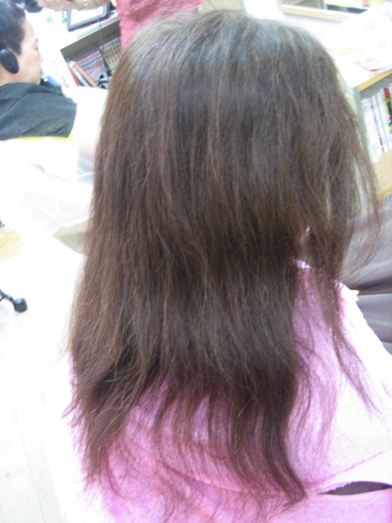 セルフカット 髪の量を減らす