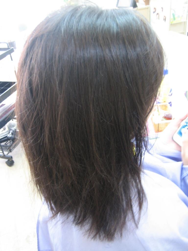 奈良市 学園前 美容室 ストレートパーマ