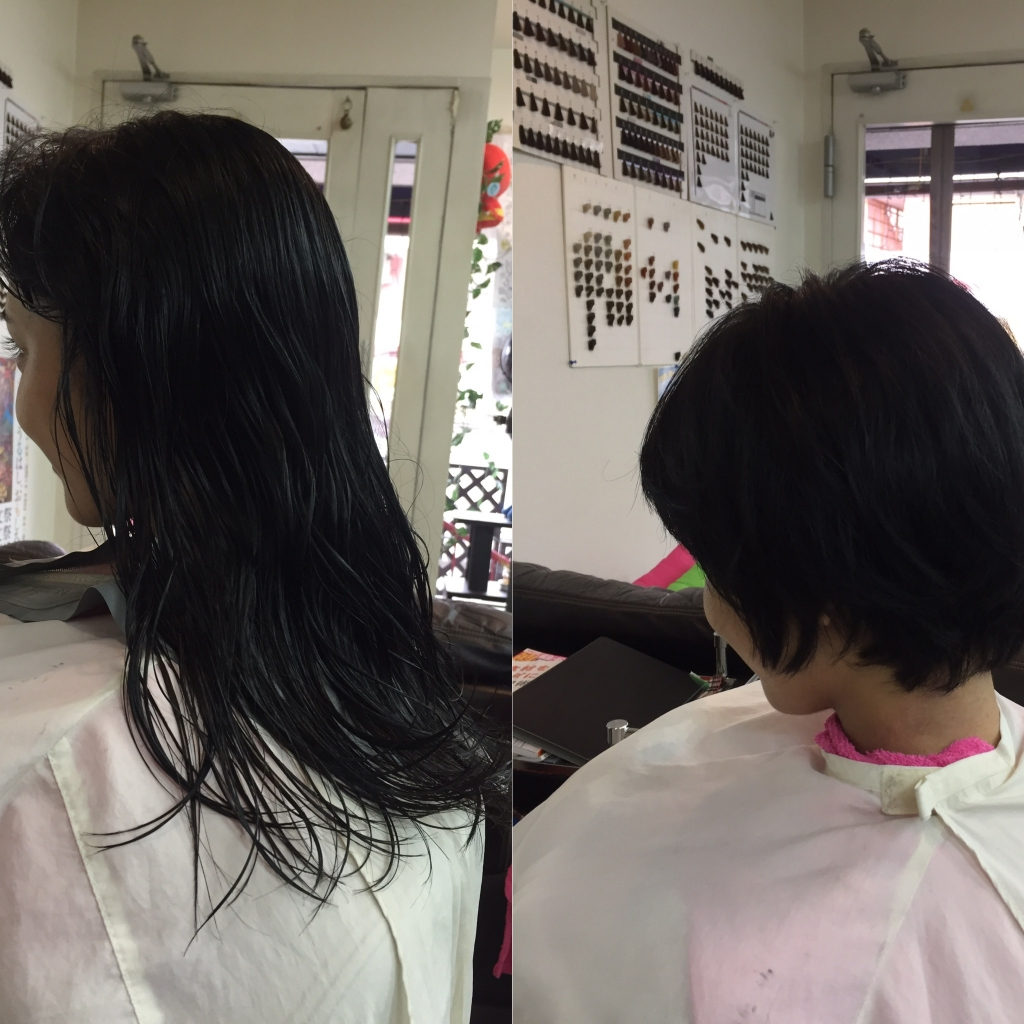 髪を切ってイメージチェンジ 奈良 高校生