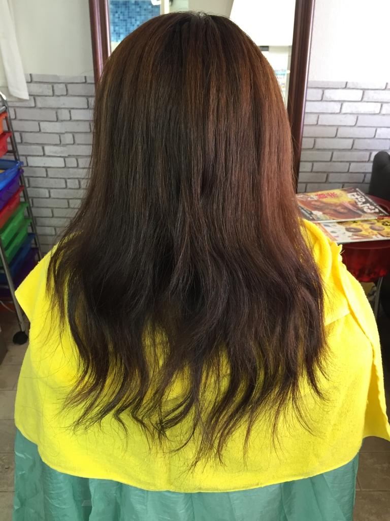 髪の量が多い場合
