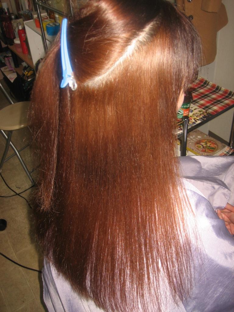 縮毛矯正 ヘアスタイル ロングヘア
