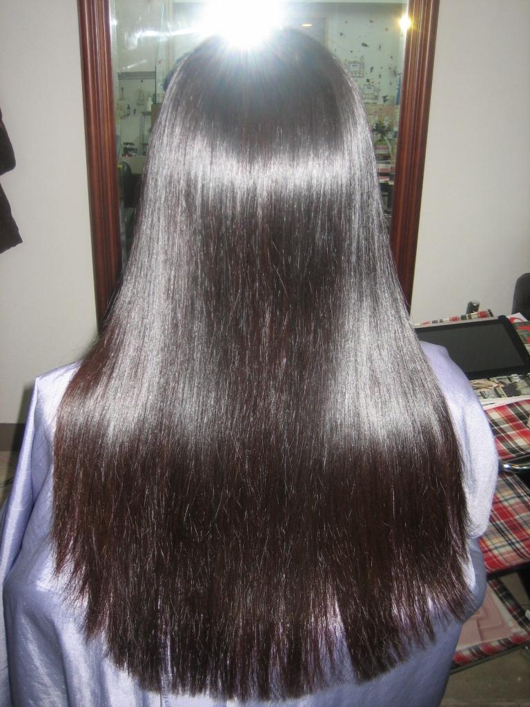 ロングヘア 縮毛矯正 チリチリ
