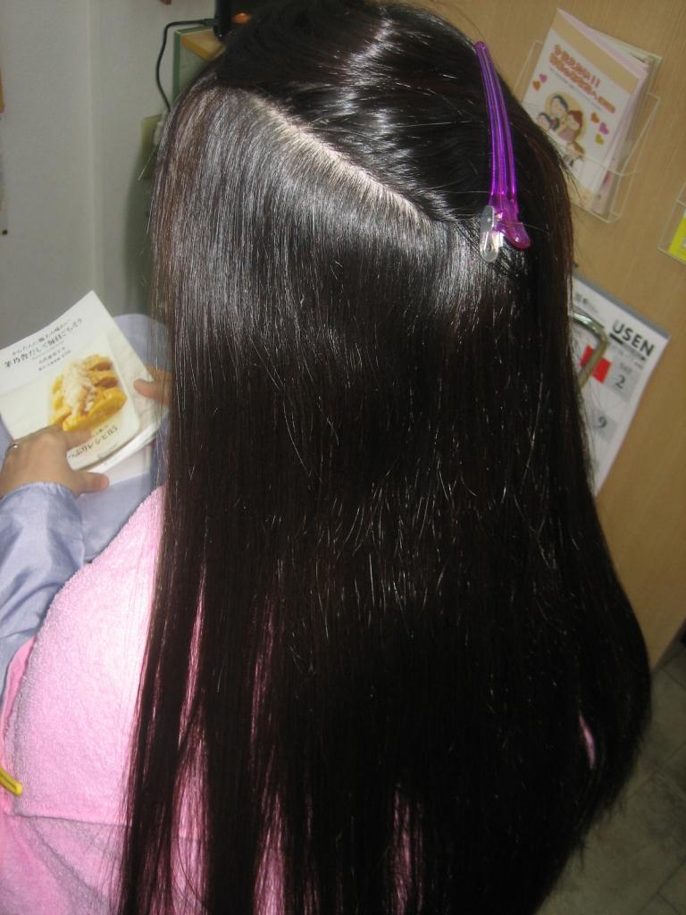 ロングヘアで髪の量が多い縮毛矯正