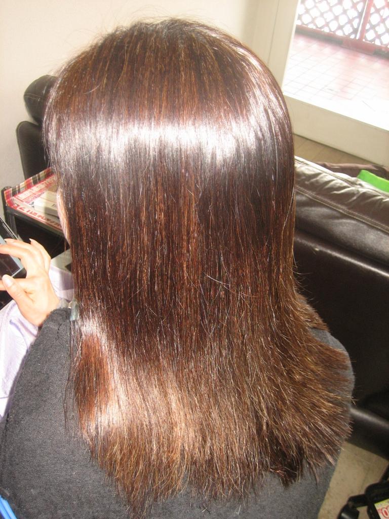 髪質改善 奈良 縮毛矯正 西大寺 ストレートヘア 高の原