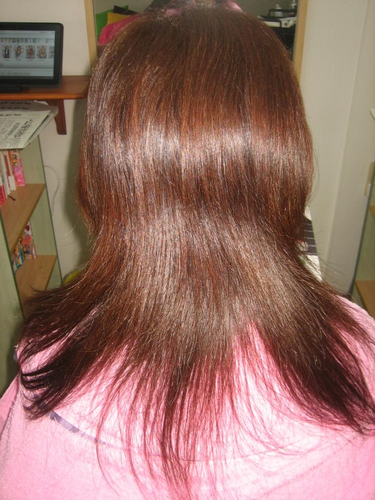 髪が多いのを減らす美容室 奈良 西大寺 新大宮