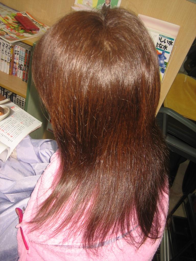 髪の量を減らすのがうまい美容室 西大寺 学園前 奈良県