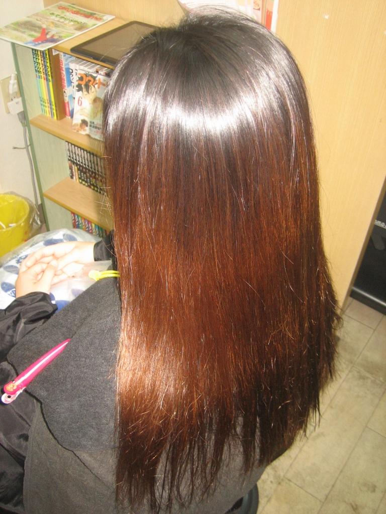奈良 髪がチリチリ 縮毛矯正