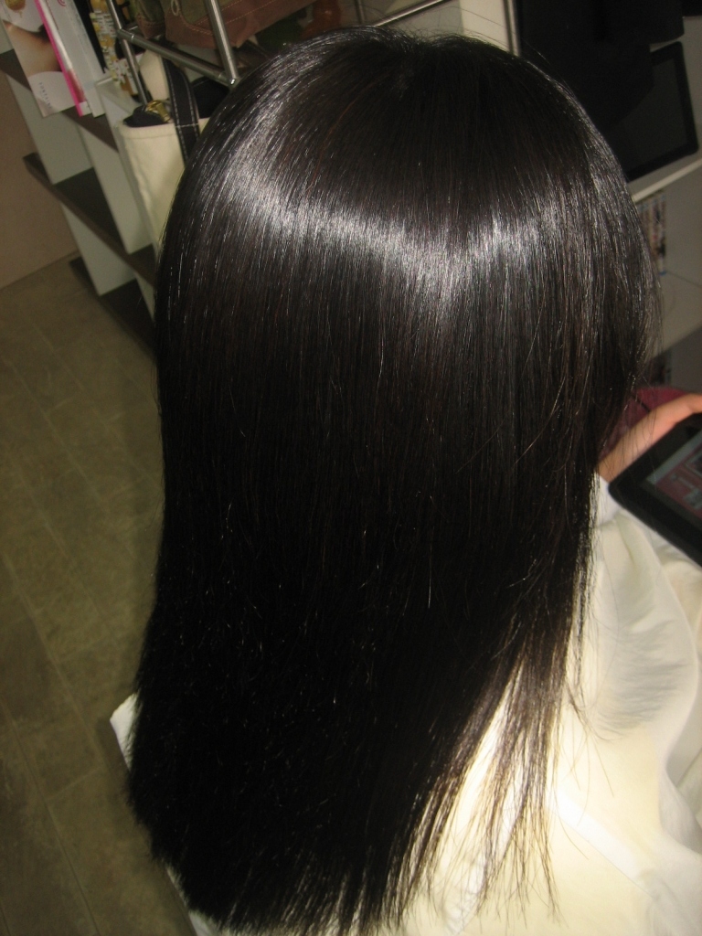 学園前 美容室 縮毛矯正髪質改善