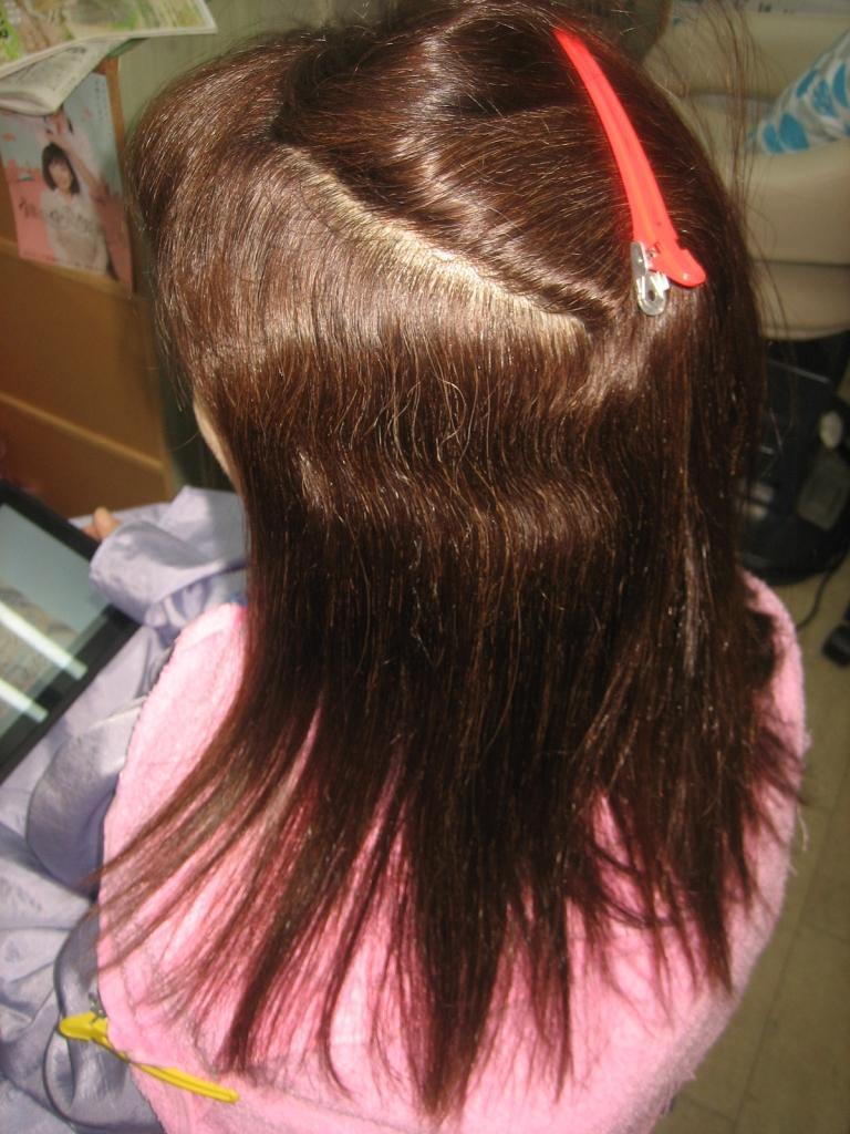 奈良市髪質改善縮毛矯正 学園前 60代ヘアスタイル