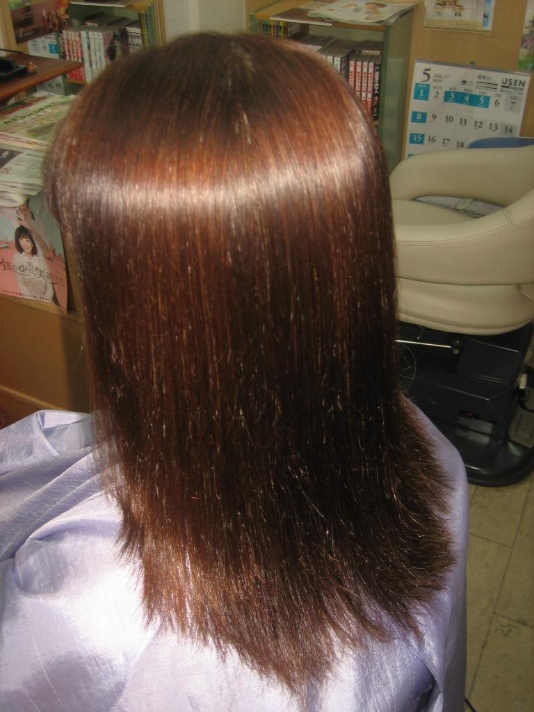 奈良 高の原 縮毛矯正 白髪染め