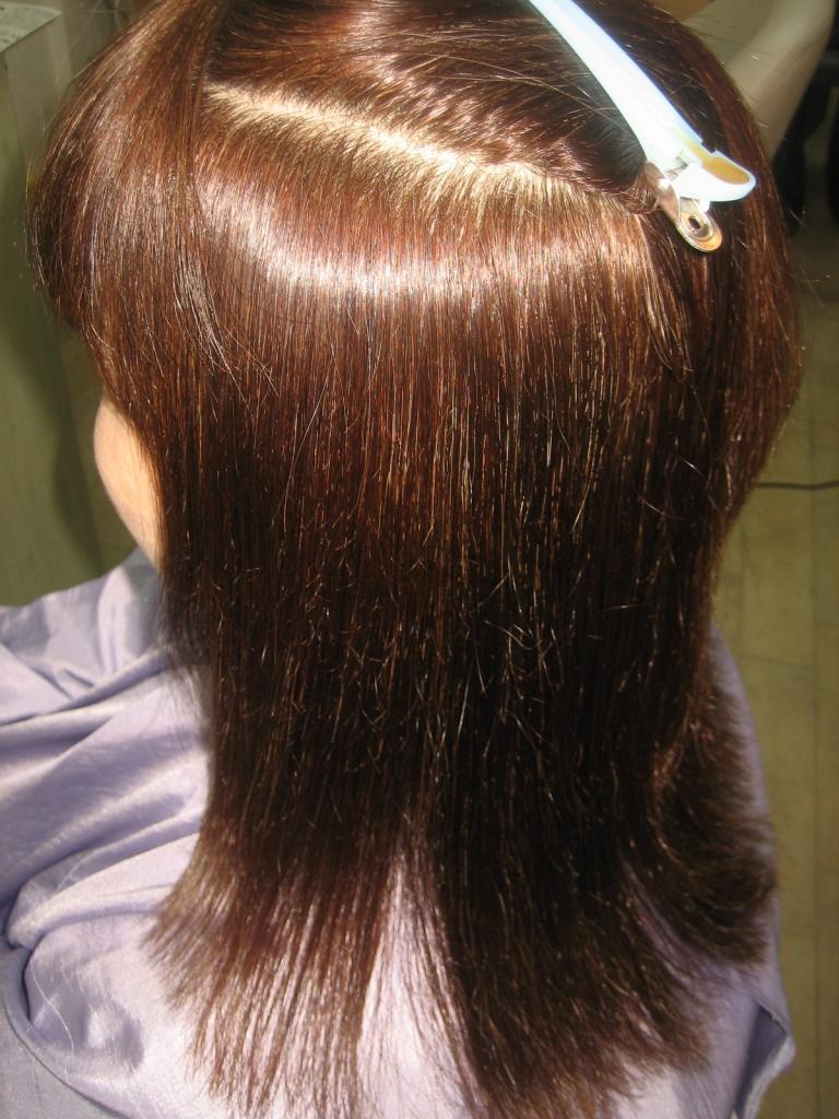 白髪染めと縮毛矯正 奈良 高の原 美容室