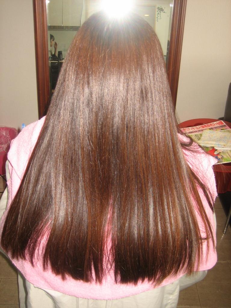 50代ヘアスタイル 白髪染めと縮毛矯正が同時に出来る美容室