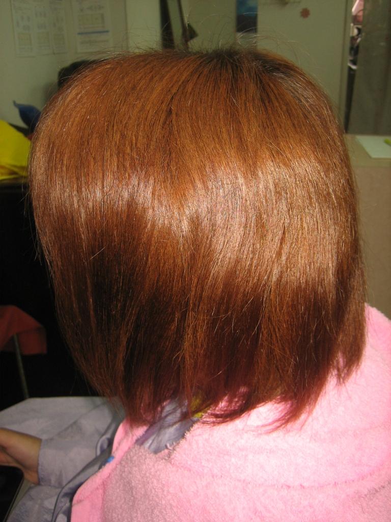 奈良市 美容室 40代 縮毛矯正とヘアカラー