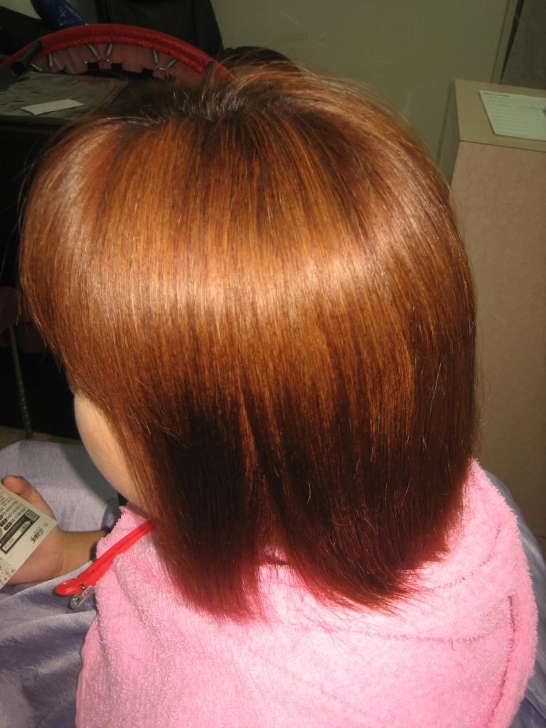 生駒市 縮毛矯正とヘアカラー 一分 壱部 ストパー