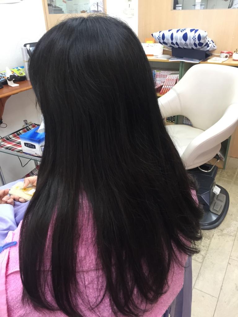 奈良市 縮毛矯正 高校生 ストレートパーマ 白庭台 髪質改善 生駒市 真弓 美容室