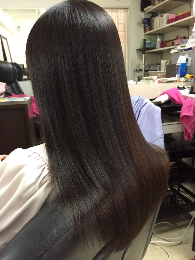 高校生の縮毛矯正 奈良県 生駒 美容院 奈良市 美容室 ストレートパーマ 学園前 高の原
