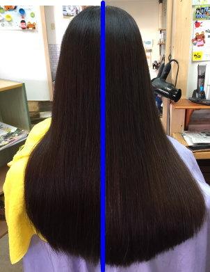 縮毛矯正ビフォーアフター 奈良 生駒 学園前 西大寺 美容室 髪質改善 高の原