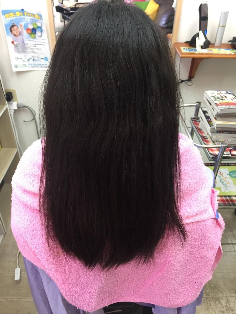 大和高田市 美容室 中学生 縮毛矯正 髪質改善 クセ毛