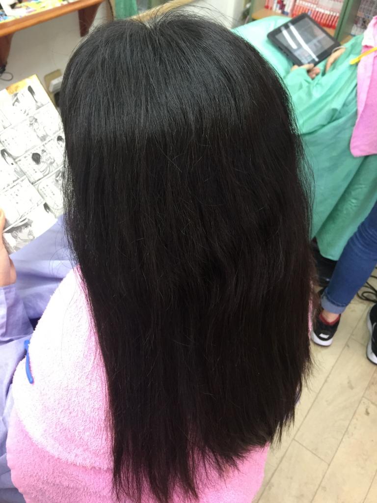 髪質改善 大和高田市 中学生の縮毛矯正 美容室