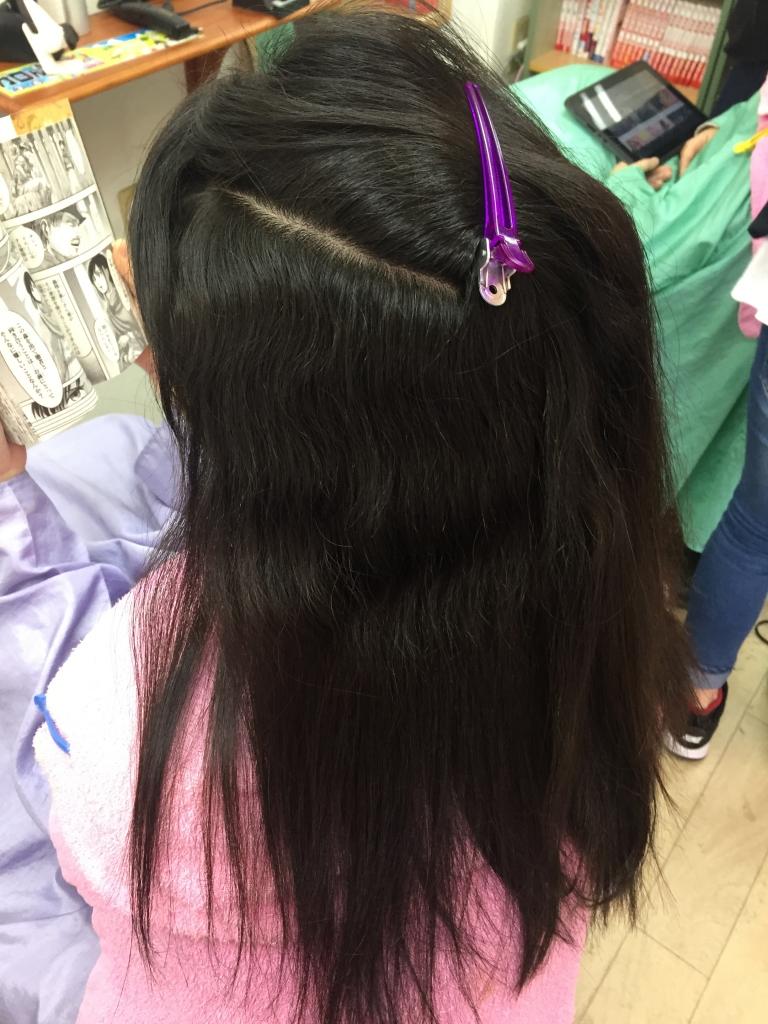 美容室 中学生のストレートパーマ 縮毛矯正