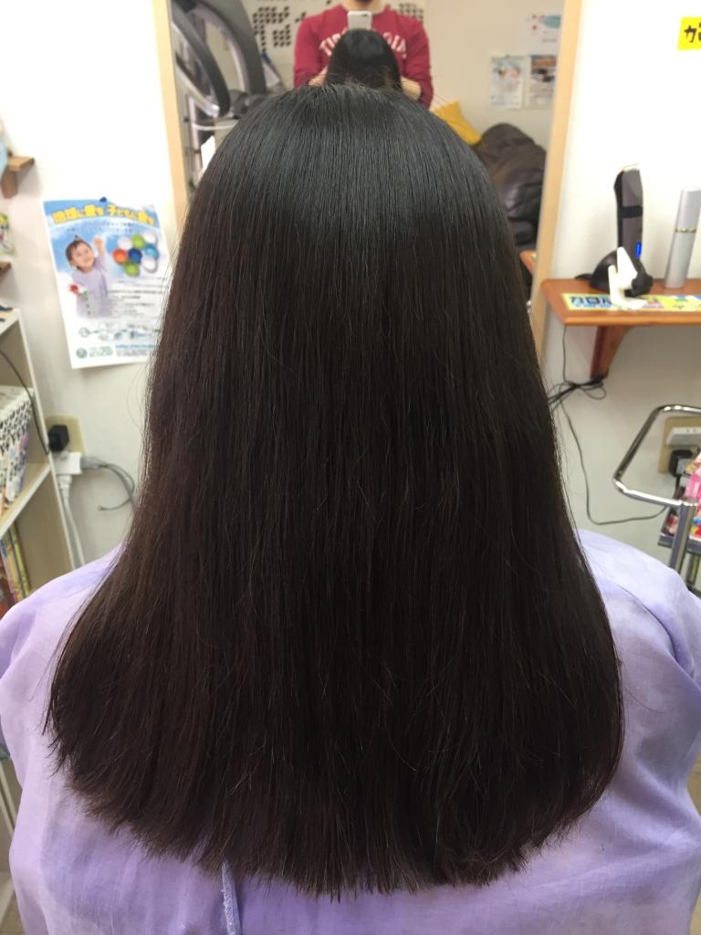 奈良市 美容室 縮毛矯正 学園前 大和高田市内からストレートパーマかけに来た中学生