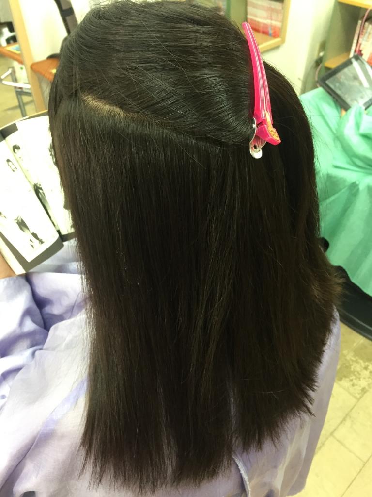 奈良市学園前 美容室 縮毛矯正を中学生にかける
