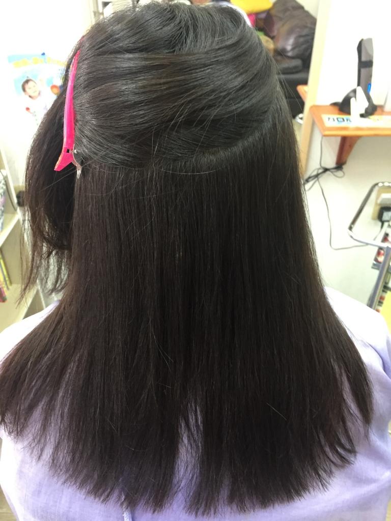 大和高田市から奈良市へ縮毛矯正しにきた中学生 美容室