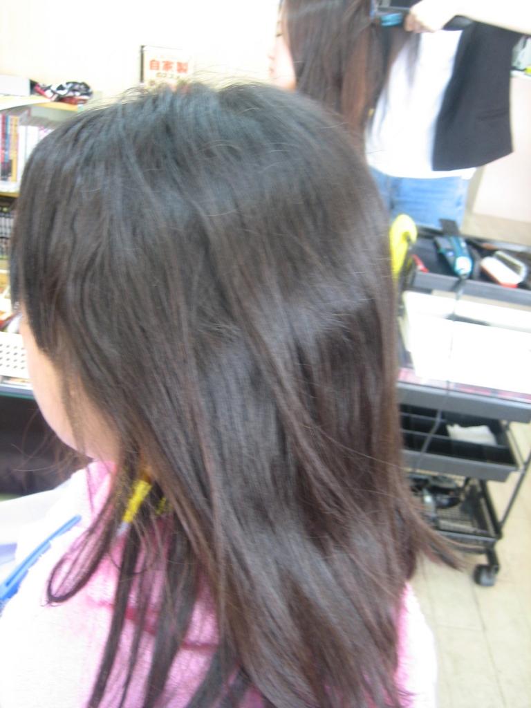 高校生の縮毛矯正 美容室の失敗 天理市