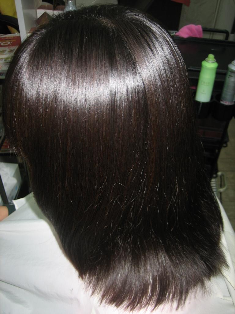 縮毛矯正 ヘアカット 髪の量の減らしすぎ 天理 美容院