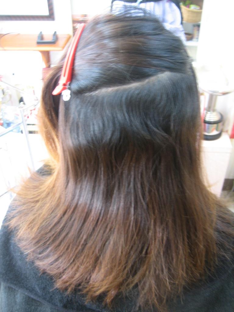 ブリーチした髪に縮毛矯正 奈良 天理市 美容室