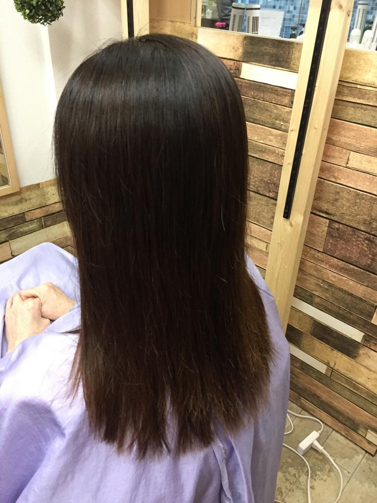 髪質改善縮毛矯正 高の原 オーダーストレート カスタムストレート