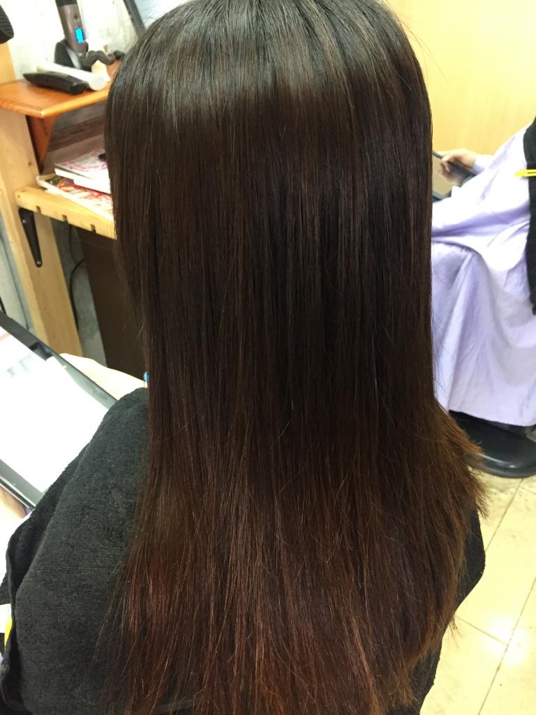 自然なサラサラストレート 高の原 縮毛矯正 木津川市 艶髪 ツヤ髪 高の原イオン 髪質改善