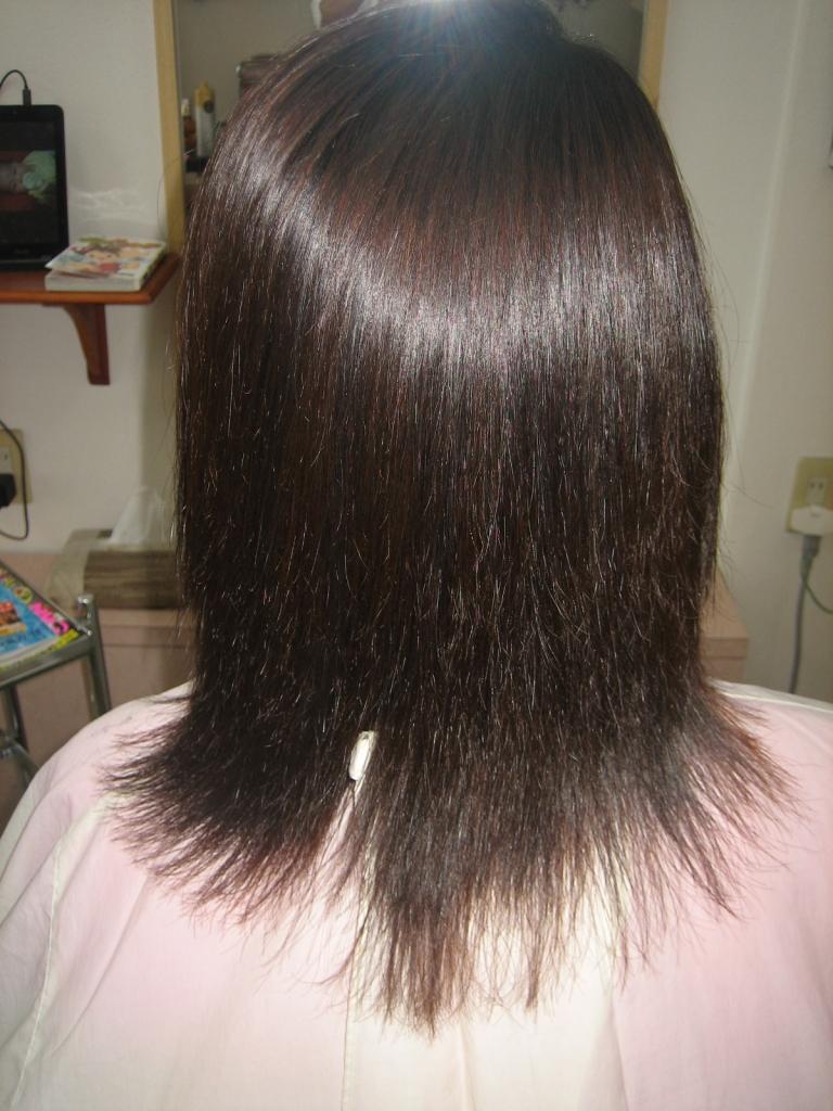 縮毛矯正ビフォーアフター 髪質改善ビフォーアフター
