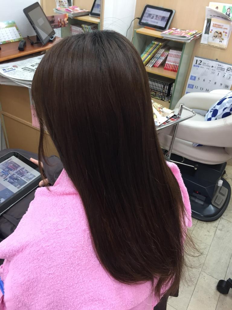 ナチュラルストレート 奈良市美容室 髪質改善専門店