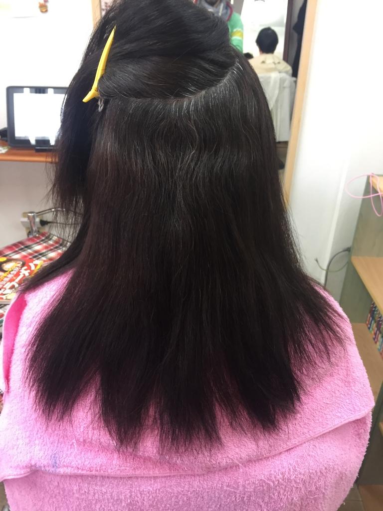 50代の髪型 奈良 美容室 白髪染めとストレート 白髪染めと縮毛矯正