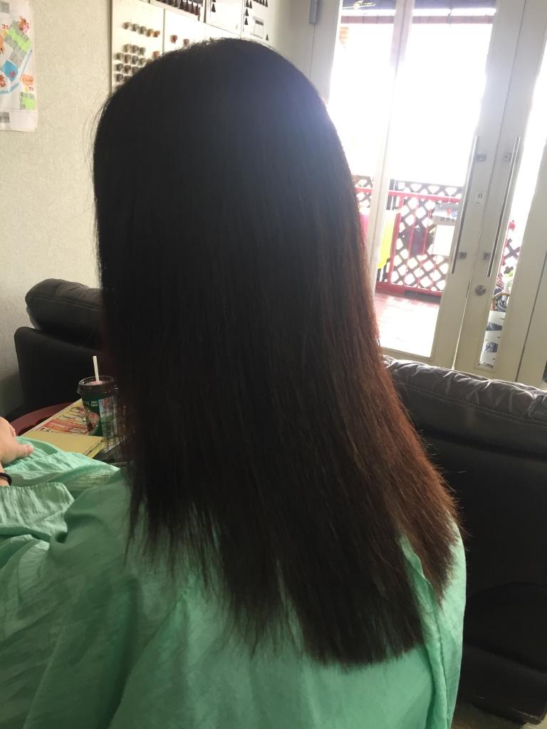 50代ヘアスタイル 生駒市 美容室 白髪染めとストレートパーマが同じ日に出来る美容室 学園前
