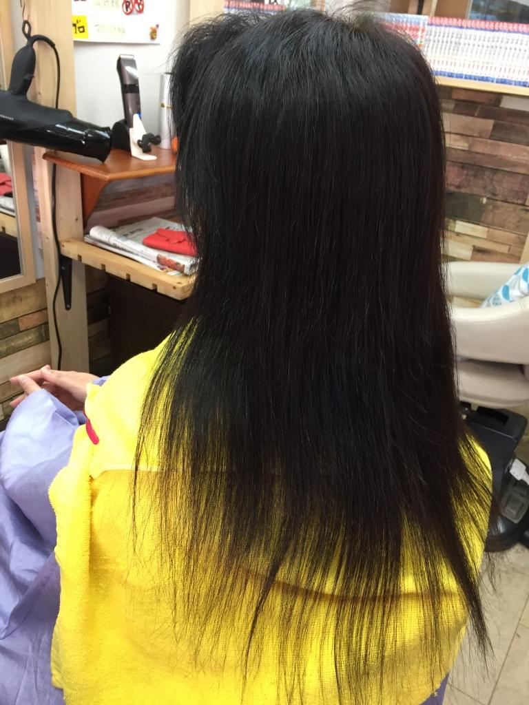 天使の輪が出来るトリートメント 奈良県 髪質改善 生駒市 すとれーとぱーま いたまないすとれーとぱーま