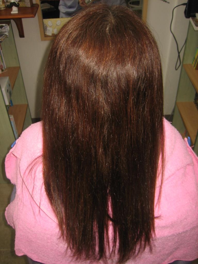 白髪染めとストレートパーマ 縮毛矯正とヘアカラー 奈良市