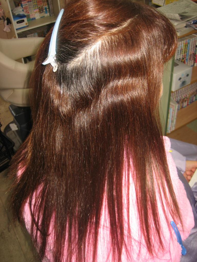 縮毛矯正とヘアカラーを同じ日に出来る美容室 奈良県